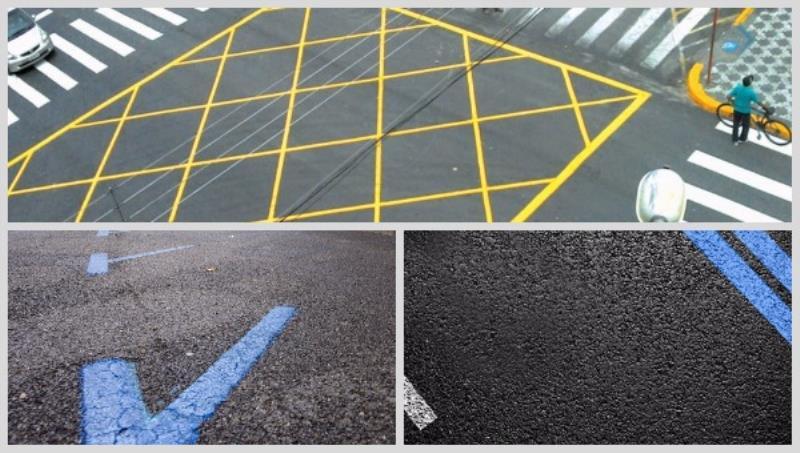 На дороги будут наносить жёлтую и синюю разметку