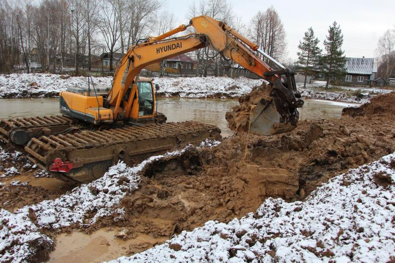 Работы на берегу пруда будут продолжены