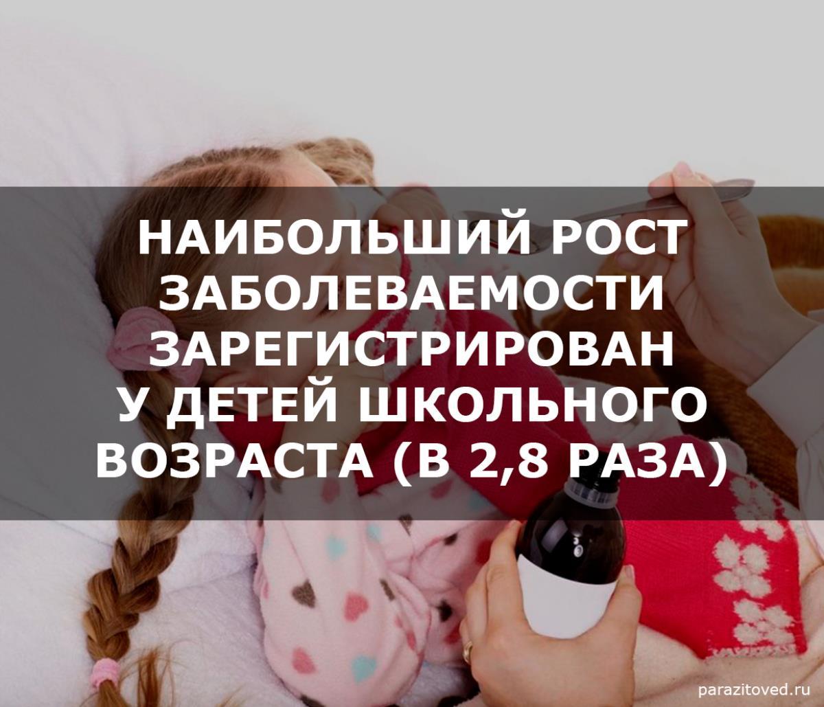 У детей зафиксирован рост заболеваемости