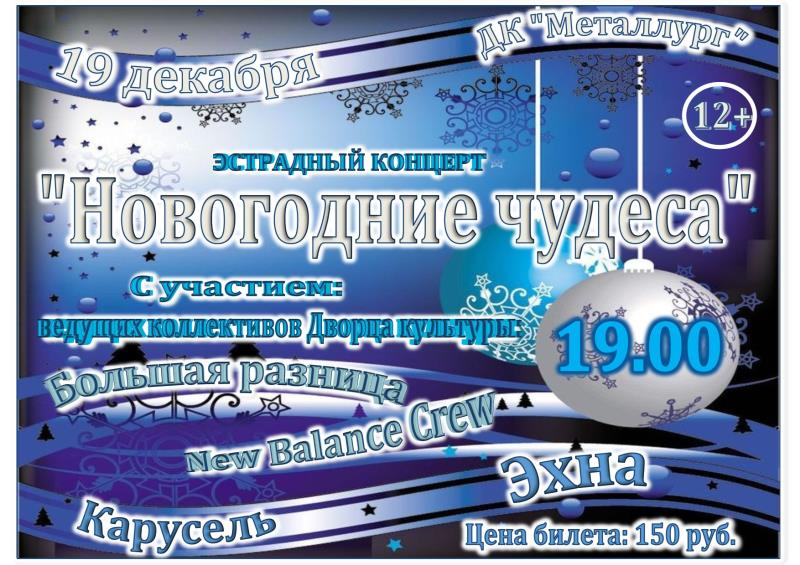 Новогодние чудеса12+