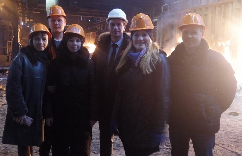Команда Кванториума посетила металлургический завод