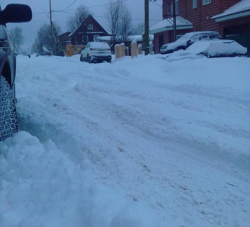 В городе снегопад