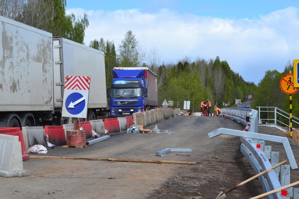 Идет ремонт федеральных  дорог