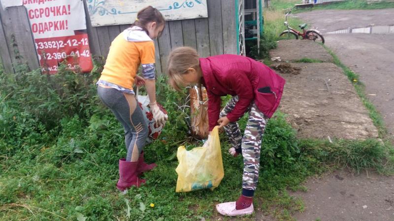 Улицы поселка без мусора