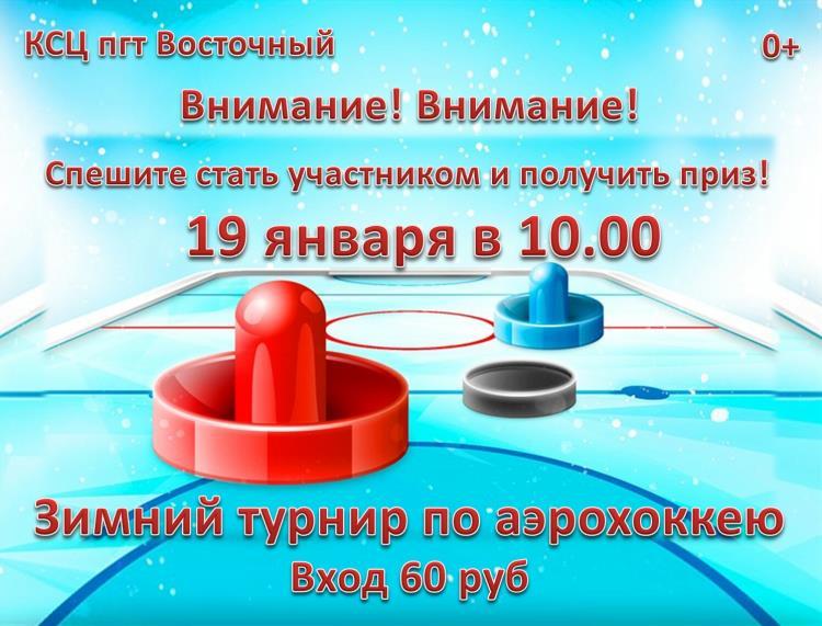 Зимний турнир по аэрохоккею