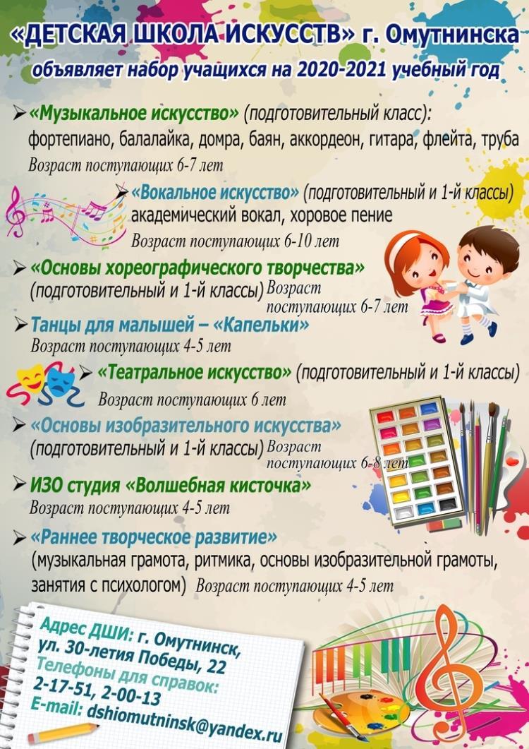 Набор учащихся