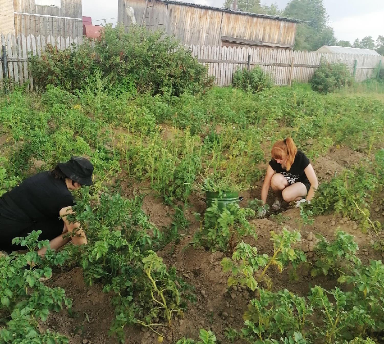 Волонтеры помогли пожилой женщине