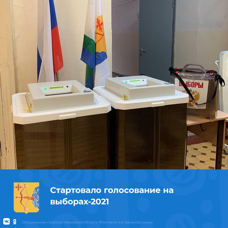 Стартовало голосование на выборах-2021