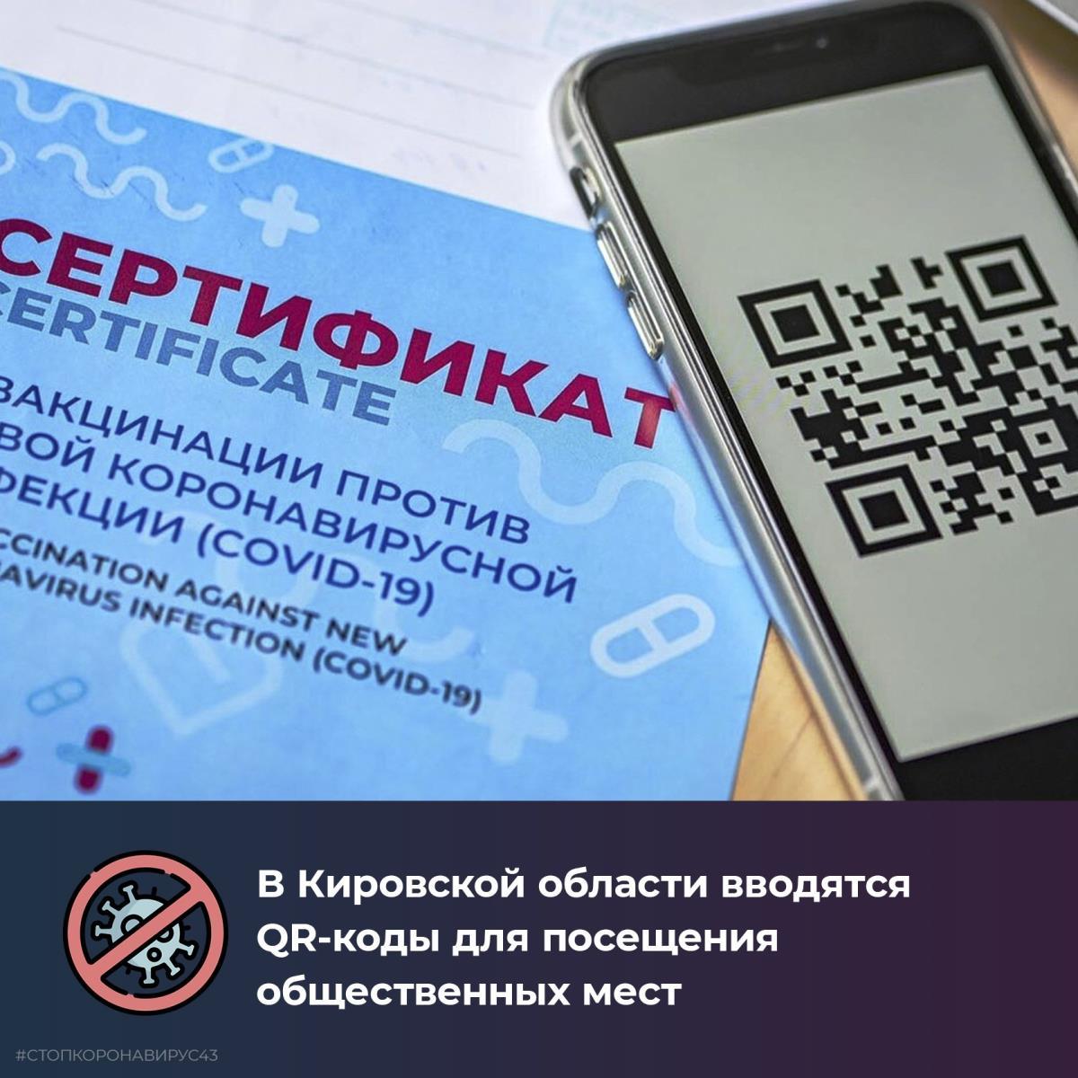 В Кировской области вводятся QR-коды